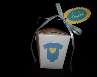10 - Onesie Love Chinese Take-Out Favor Boxes - Baby Shower or Gender Reveal Favor