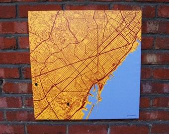 Barcelona on canvas