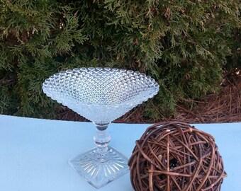 Beautiful Stemmed Glass Candy Dish