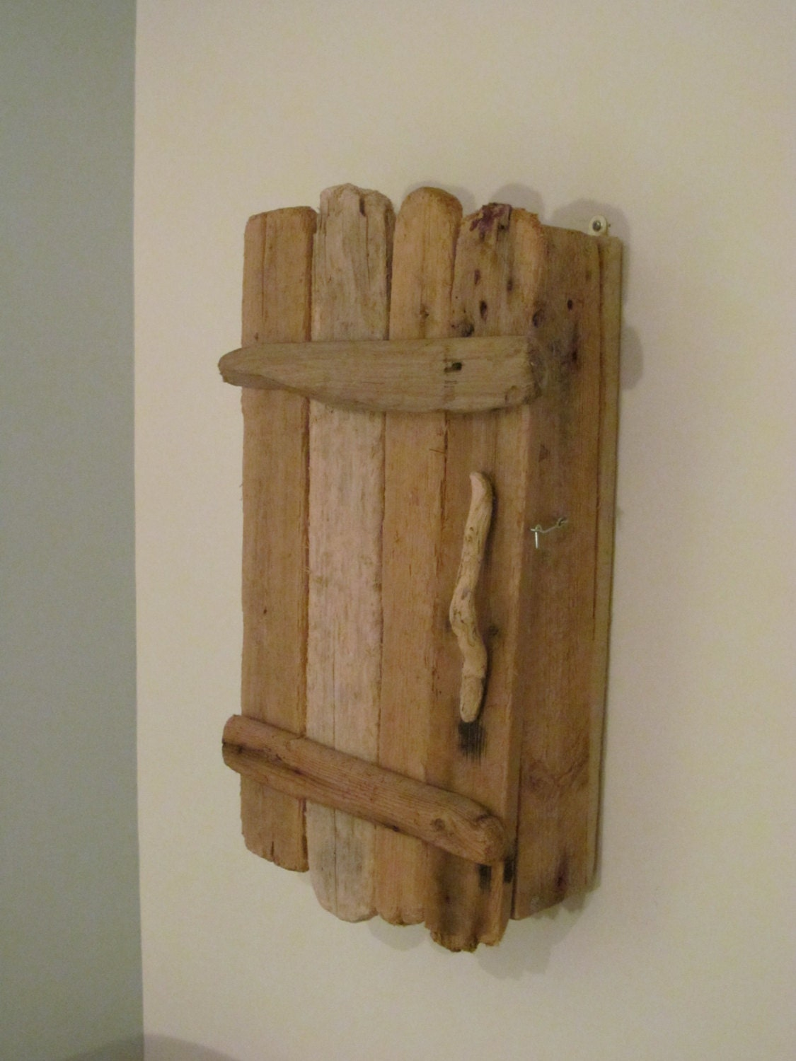 Rustic Driftwood Cupboard Cabinet Wall Mounted And