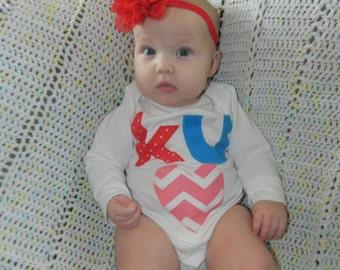 KU Baby Bodysuit, KU Baby Outfit, Kansas Jayhawk Baby Shirt