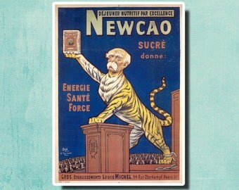 Newcao Nutritious Breakfast Par Excellence - 1917 - Vintage French Poster SG874