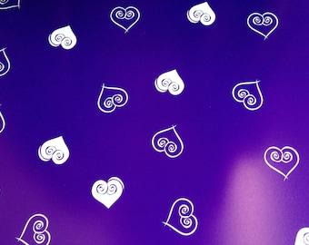 12x12 Purple Hearts Paper