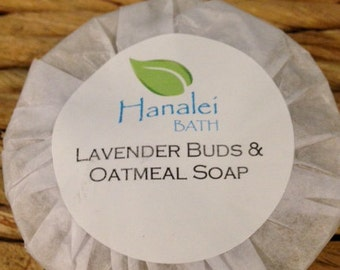 Lavender Buds and Oatmeal Cold Process Soap