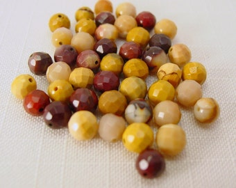 Mookaite Faceted  Round 6 mm - 10 pcs  #972