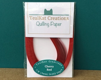 Cherry Red Quilling Paper