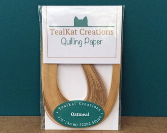 Oatmeal Beige Quilling Paper