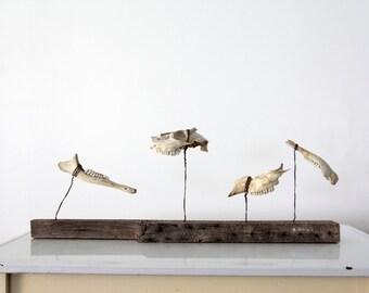 folk art bone sculpture,  1920s primitive art