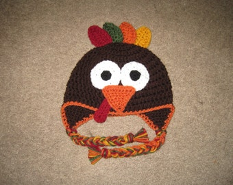 Custom Crochet Turkey Hat
