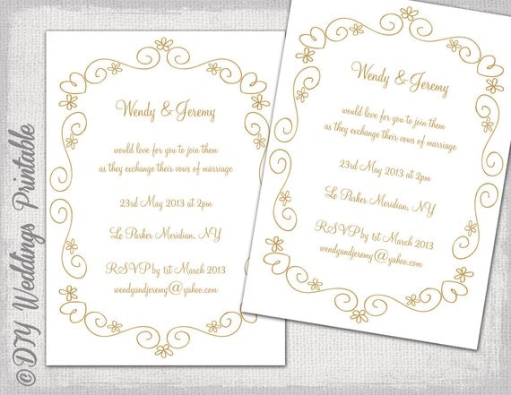 Scroll Wedding Invitations Diy with luxury invitation example