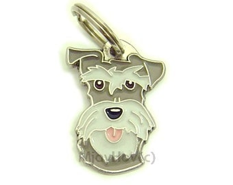 Pet ID tag, (Dog ID tag) Personalised, stainless steel, breed, engraved, Schnauzer