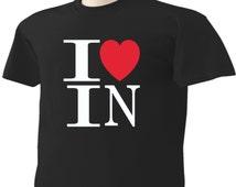 I Love Indiana T-Shirt Heart IN