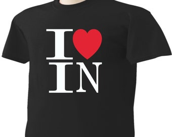 I Love Indiana T-Shirt Heart IN