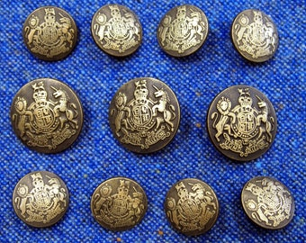 Brass coat buttons   Etsy