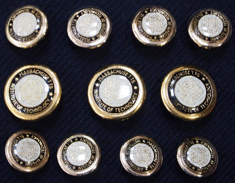 Gold Metal Shank MIT Blazer Buttons Set for suit jacket, blazer ...