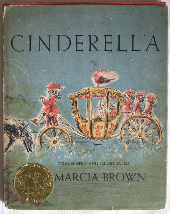 Illustrated Book Cover Zwart : Items similar to collectible rare perrault s cinderella