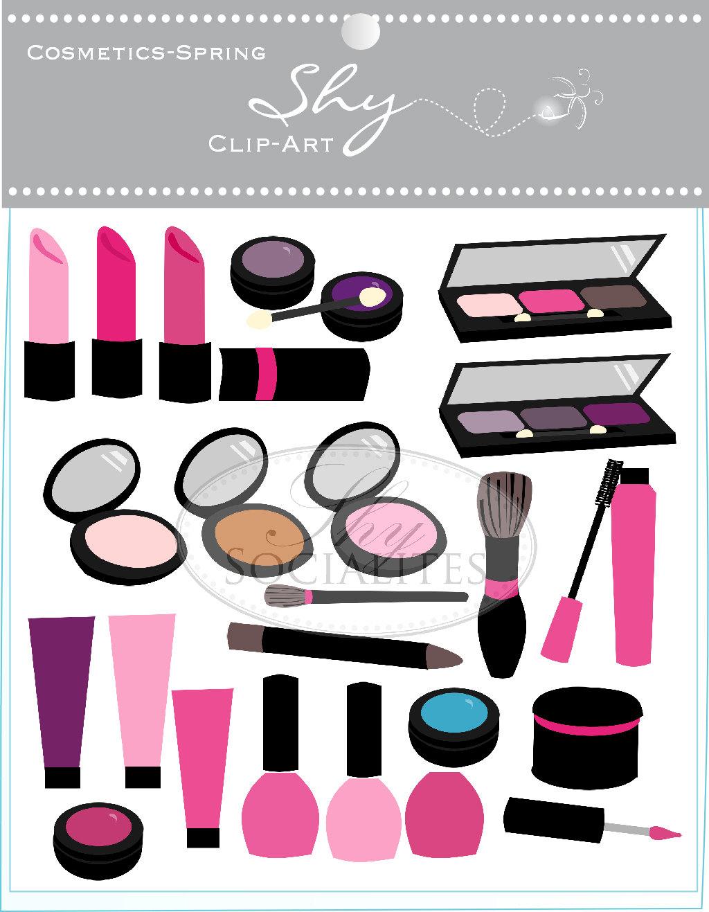 cosmetics clip art makeup clip art beautician clip art