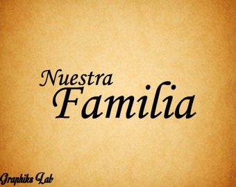Quotes in Spanish About Family Nuestra Familia Quot Our Family Quot