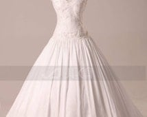 Vintage Inspired Modest Wedding Gown Available in Plus Sizes W850