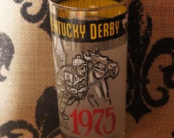 1975 Kentucky Derby Glass