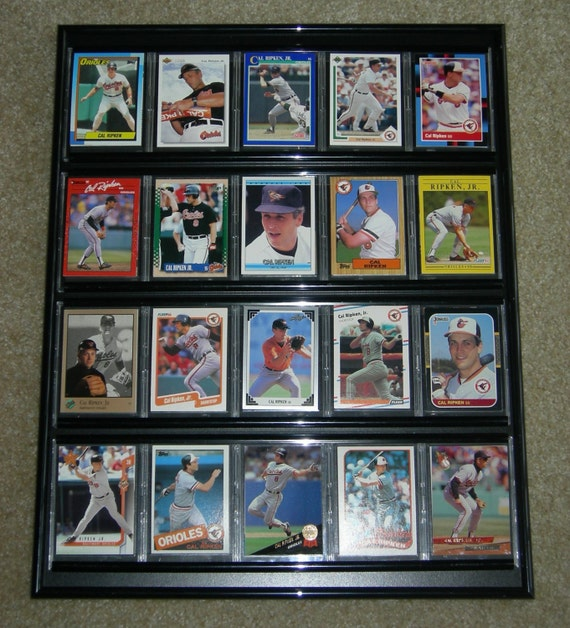 baseball card frame collage baltimore orioles 20 different cards