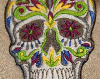 Muerto skull colored white) reason very noble patch/appliqué