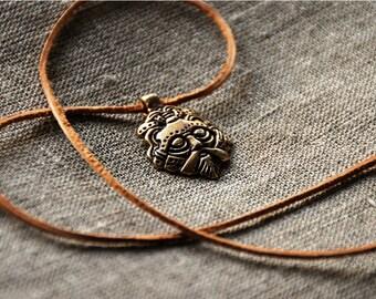 Odin's Mask viking pendant