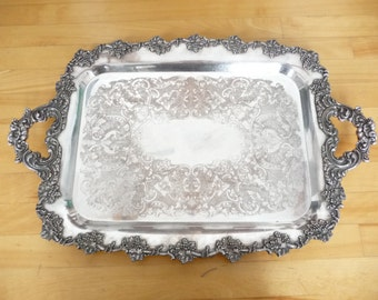 Antique Silver Plated Tray – marked Old English Reproduction  – c. 1900-1910