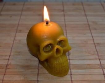 Halloween Skull Beeswax Candle