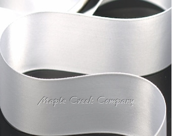 "5 yards of White Double Face Satin Ribbon, 1-1/2"" x 5 yards"