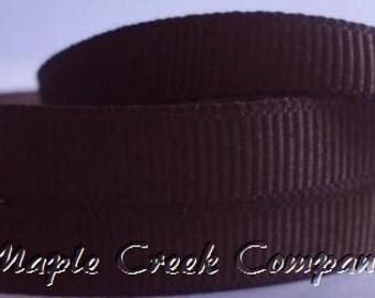 "5 yards Brown Grosgrain Ribbon, 4 Widths Available: 1 1/2"", 7/8"", 5/8"", 3/8"""