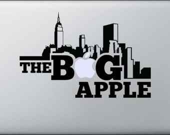 Laptop decal – Laptop Sticker – Macbook Pro decal – Macbook Air decal – Car window – Hipster - The big apple - New York city