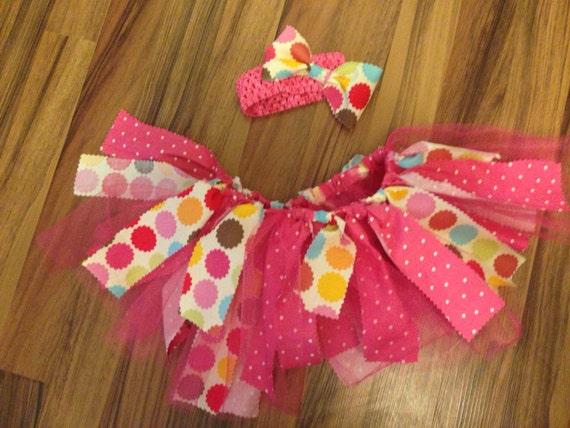 Homemade Baby Girl Spring Fabric Scrap Tutu