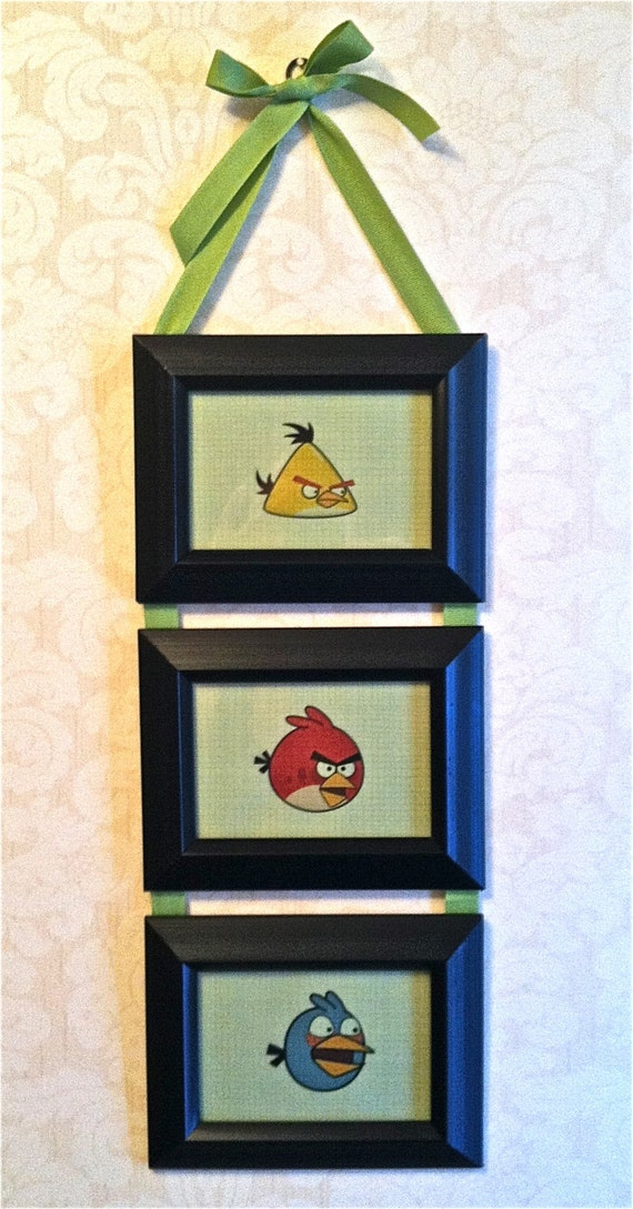 Items Similar To Kids Room Angry Birds Collage Frame