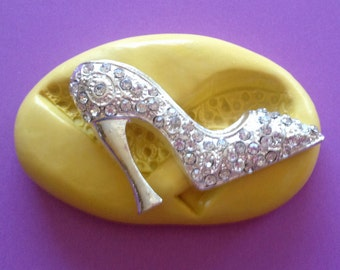 High Heel Fashion SHOE Silicone MOLD - Clay Mold, Craft Supply, Shoe Mold, Cake Topper, Fondant Mold, Fancy Shoe Mold, Shoe Molds, Craft