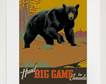 Canada Hunting Art Travel Poster Tourism Print (TR20)
