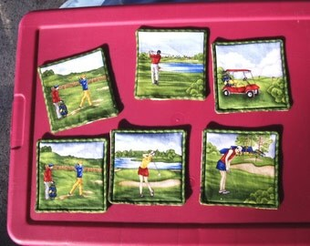 Set of two Golf Coasters