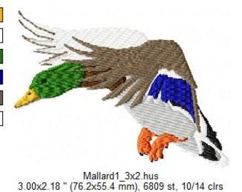 Embroidered Mallard Duck Design