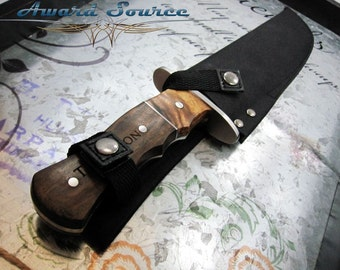 Personalized Knife Alamo Bowie Knife - Personalized Wood Handle Hunting Knives