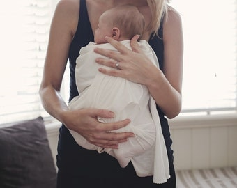 Baby Wrap from Pure Organic Bamboo Jersey, beautifully soft with a slight stretch. Gift-ready.