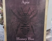 Honey Bee Decoupage Wood Sign | Wood Art For Your Home| Chalkboard Inspired
