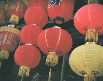 Chinese Lanterns, Holga Photography, Digital Photo Download