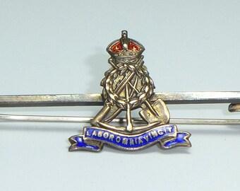 Pioneer Corps Military sweetheart brooch - Sterling Silver & Enamel