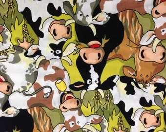 Children's Cow Throw Pillow Cover - Custom Fit for The Pillow Size You Need!