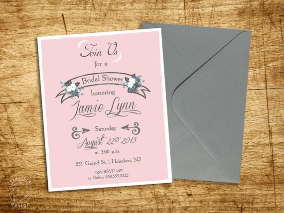 Bridal Shower Invitation by Hudson & Sound
