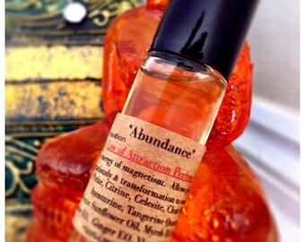 Law of Attraction Organic Perfume Oil / Abundance Organic Aromatherapy / Crystal Elixir Perfume / Enhance Magnetism Prosperity / New Age Oil