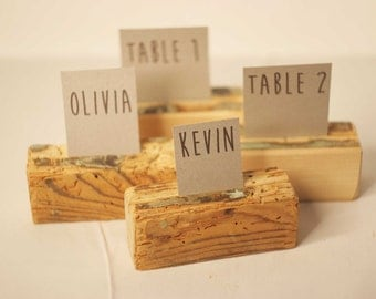 200 pieces Rustic place card holders, Wedding card holders, name card holders, Rustic wedding table number holder, wooden card holders