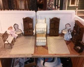 Dollhouse 1/12 scale bedroom set