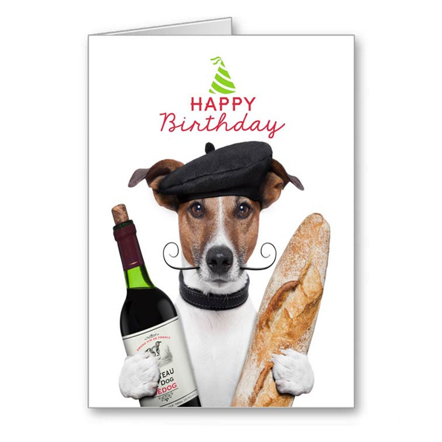happy birthday funny dog card - photo #3