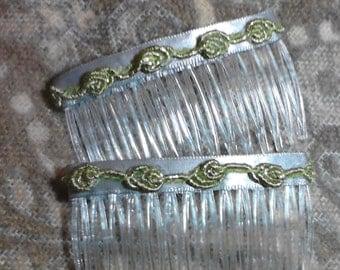Hair combs  silver hair combs Hair accessories fashion combs